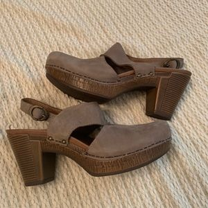 Dansko Closed toed taupe comfortable clog